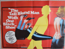 Tall Blonde Man With the One Black Shoe, UK Quad Film Poster, Pierre Richard '72